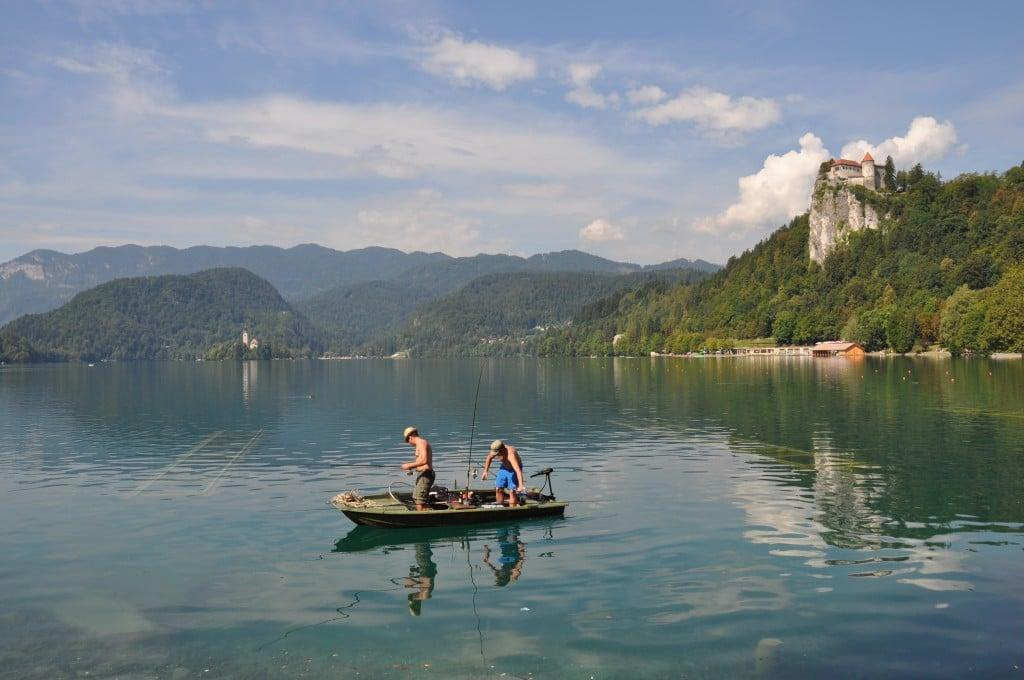 Lac de Bled château et île