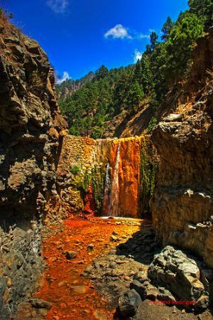 8. cascada de los colores, île de la Palma (îles canaries)