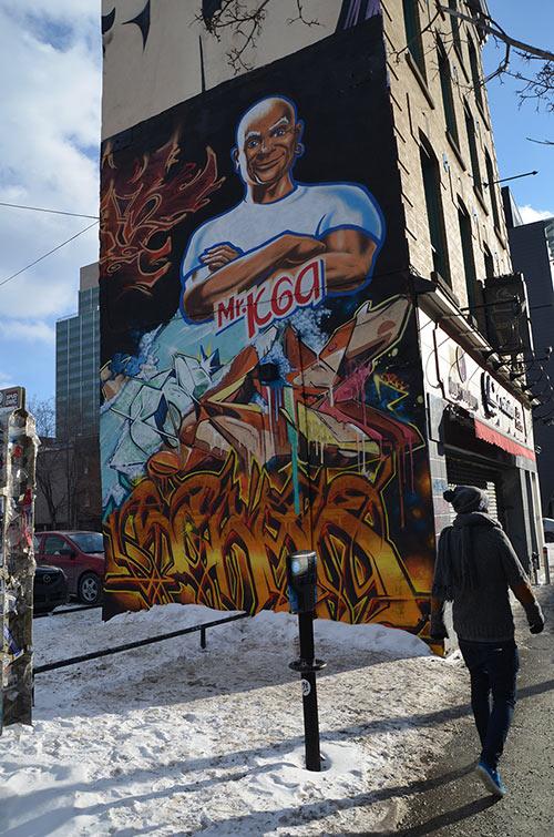street art montreal hiver