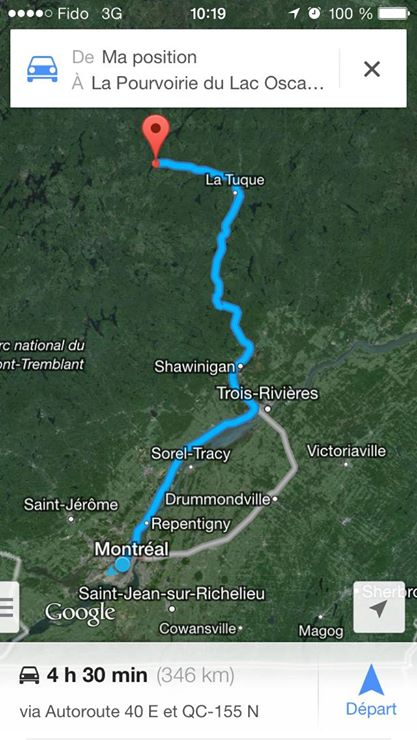 road trip quebec tour du monde pourvoirie oscar farrar trajet montréal
