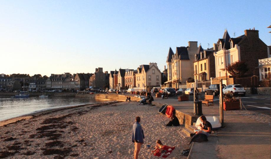 Un coucher de soleil à Saint-Malo
