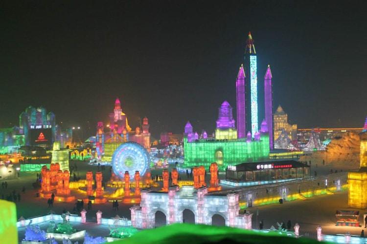 Le festival de glace à Harbin, Mandchourie, Chine