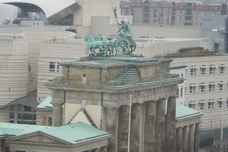 La Porte de Brandebourg, symbole de la ville de Berlin