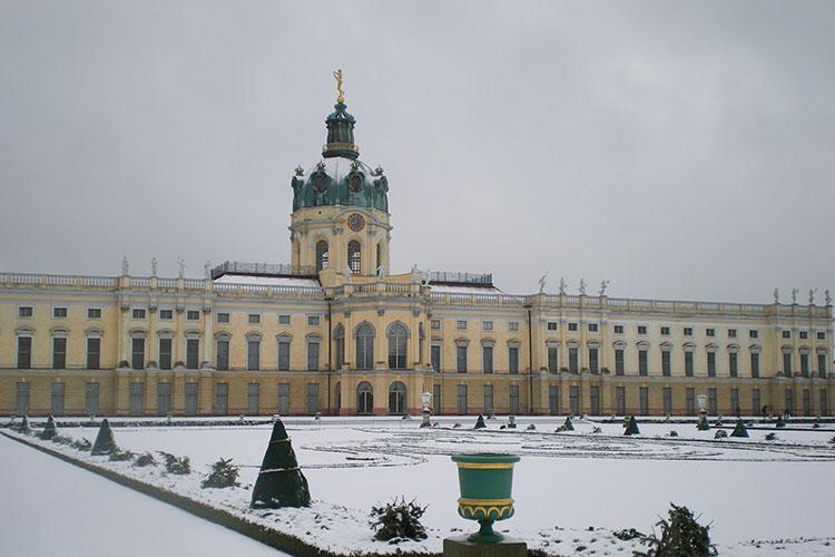 Le château de Charlottenburg sous la neige