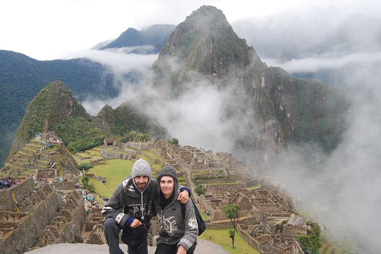 Nous sommes revenus du Machu Picchu à pied, une marche d'à peu près 25 kilomètres