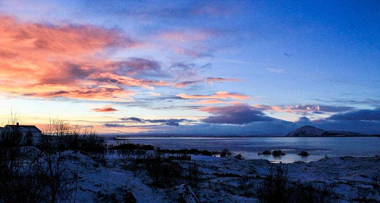 Lever de soleil en Islande