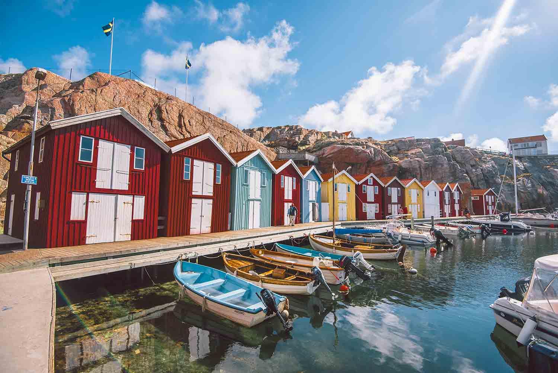 Smögen, un endroit coloré en Suède