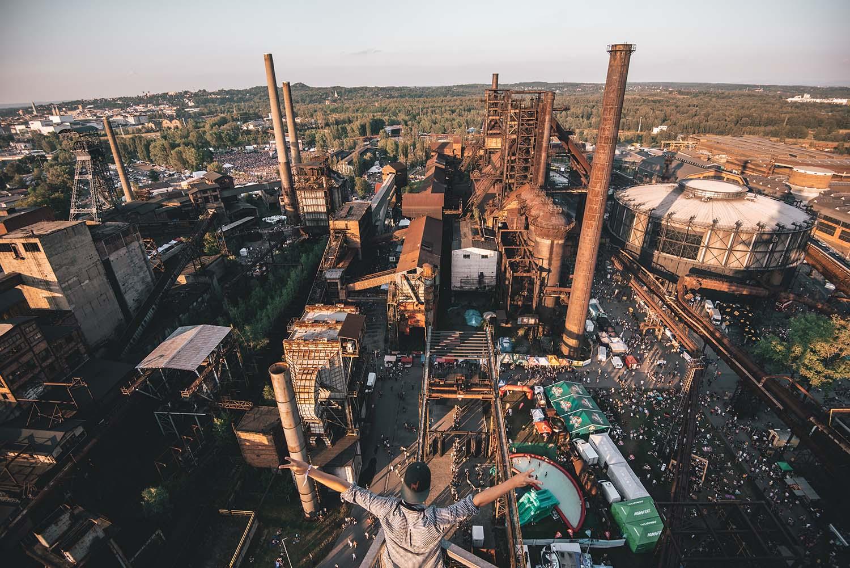 Le festival de Colors of Ostrava est dans une zone industrielle