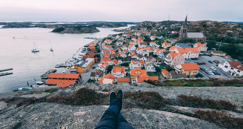 Fjällbacka village à l'ouest de la suède