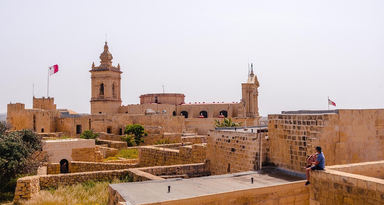 La citadelle à Gozo
