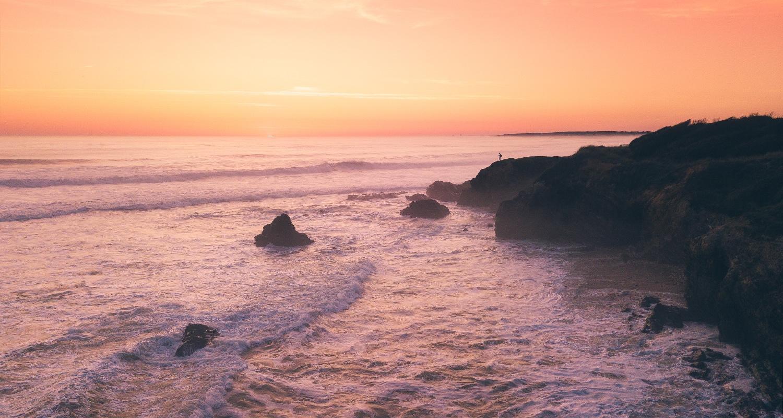pointe du payré au coucher de soleil en vendée
