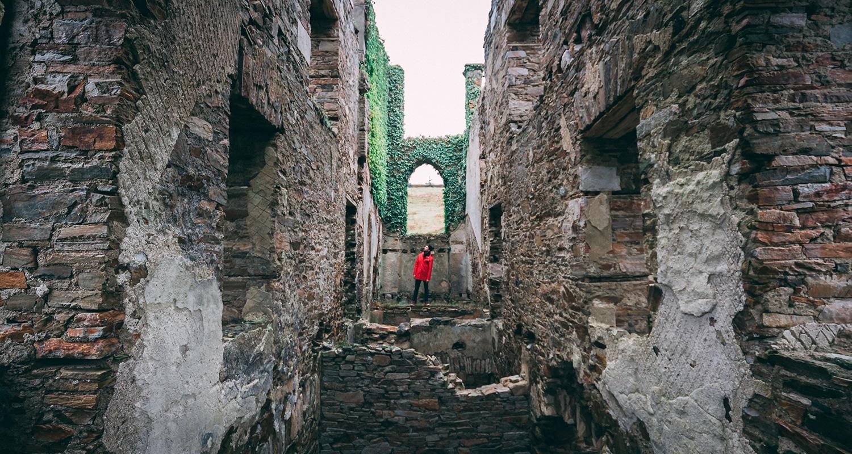 Session urbex au Château deClifden en Irlande