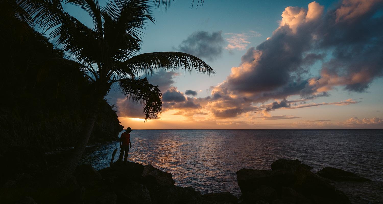 coucher de soleil à Terre de Bas