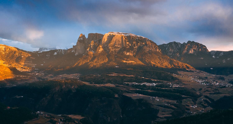 La vue depuis les pyramides de Terre à Bolzano