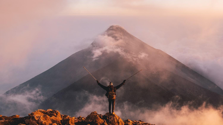 L'un des plus beaux moments de ma vie, quand les nuages ont fait place au volcan el Fuego