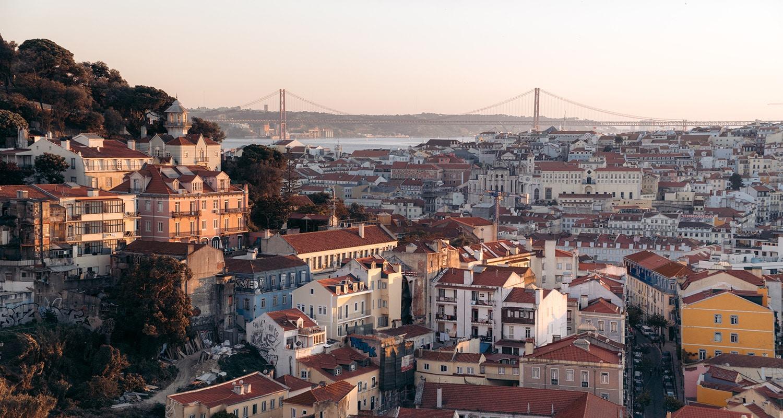 La vue depuis mon mirador préféré à Lisbonne