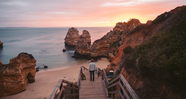 Praia do Camilo pour voir un lever de soleil dans l'algarve