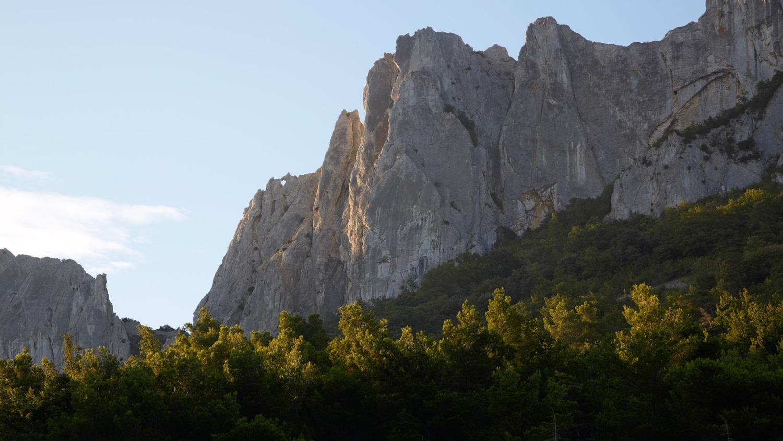 Dentelles de Montmirail, Vaucluse, Provence, Frankreich