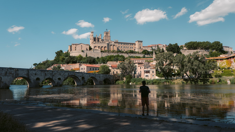 La ville de bezier dans l'Hérault