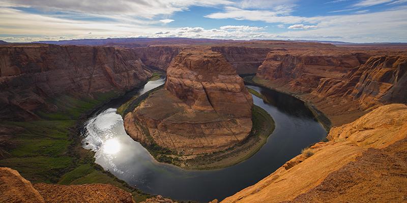 horse shoe bend canyon américain